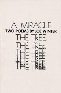 Joe Winter Poetry, A Miracle